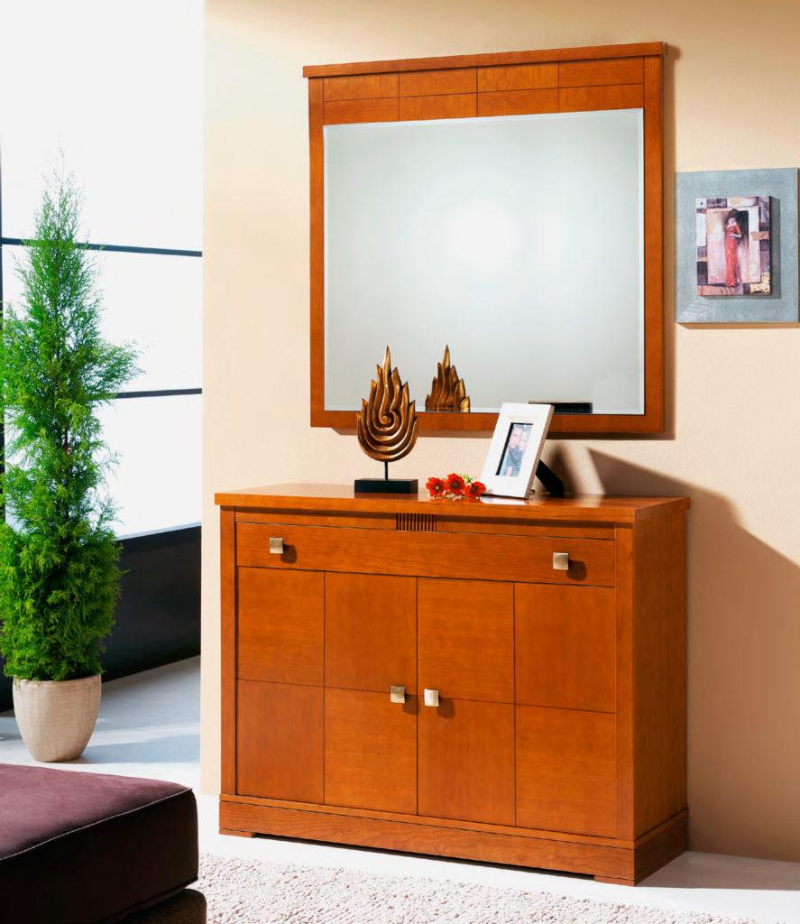 Комплект мебели в прихожую - обувница с зеркалом