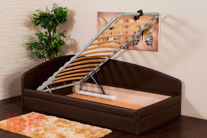 Односпальная угловая кровать с подъёмным ортопедическим основанием