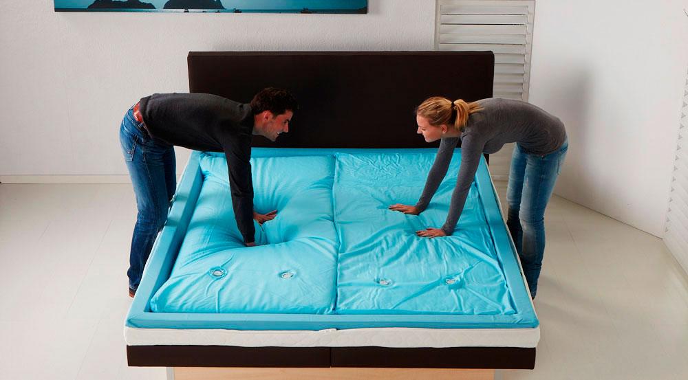 Фото кровати с двухсекционным водяным матрасом