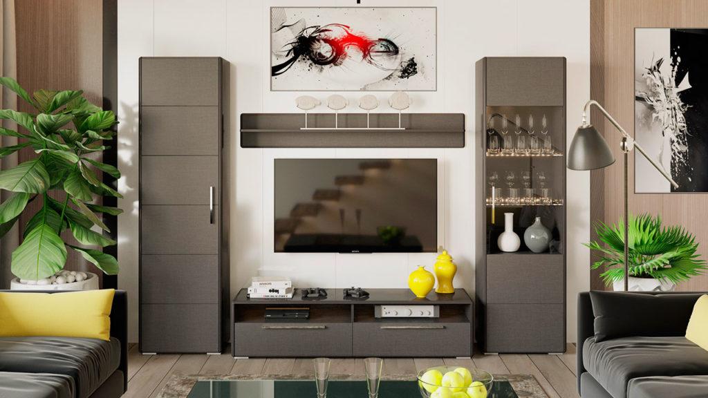 Комплект модульных шкафов для гостиной