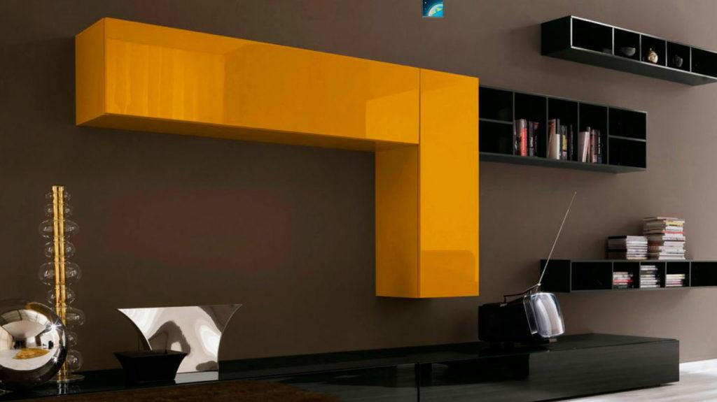 Фото модульных подвесных шкафов для гостиной
