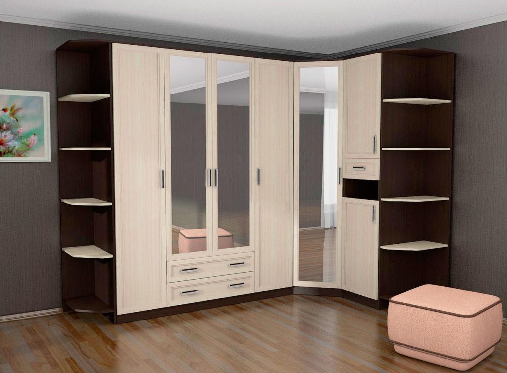 Модульные шкафы для спальной комнаты