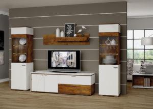 Фото модульной стенки в гостиную
