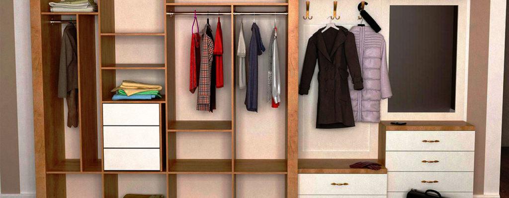 Фото внутреннего наполнения шкафа для прихожей