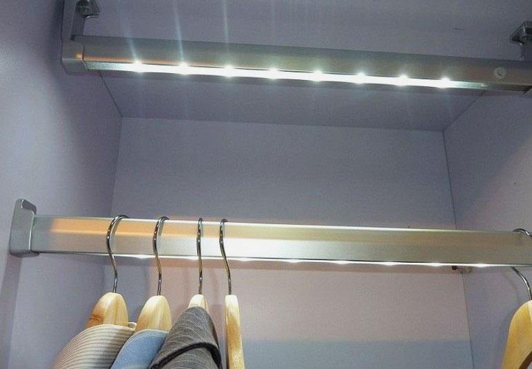 Сетодиодное освещение внутреннего наполнения шкафа