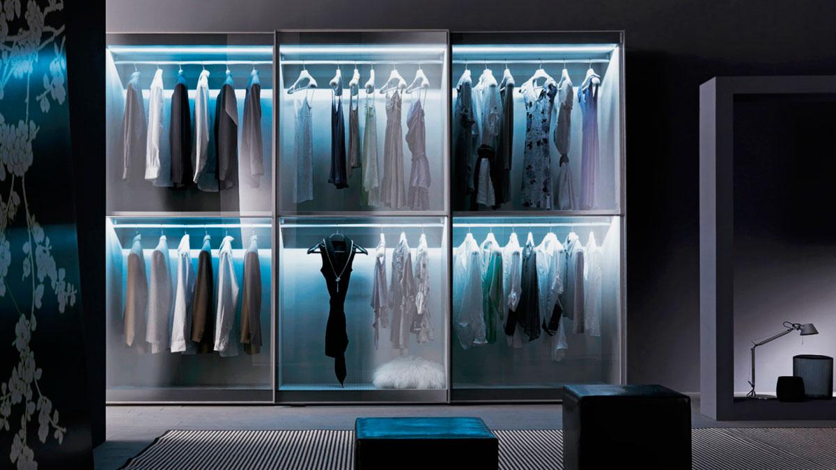 Шкаф с подсветкой - виды светильников, места и способы монта.