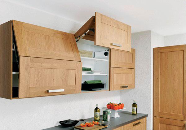 Фото кухонного гарнитура с подъёмными дверьми