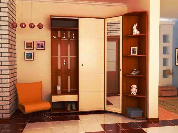 Угловой мебельный гарнитур для прихожей