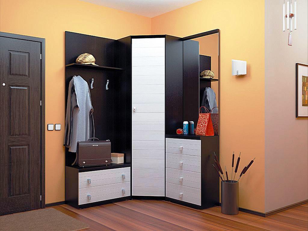 Мебельный гарнитур в прихожую со шкафом и зеркалом