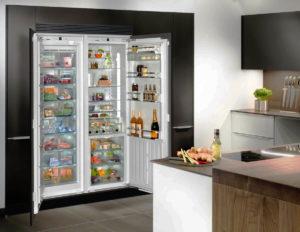 Фото кухонного шкафа со встроенным холодильником