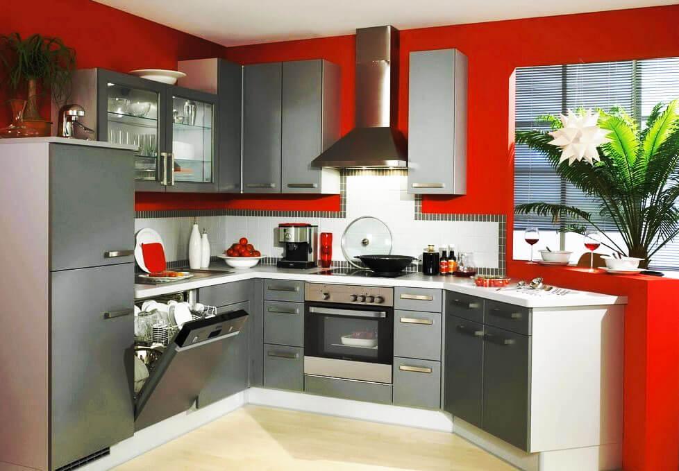 Фото кухни со встроенной посудомоечной машиной