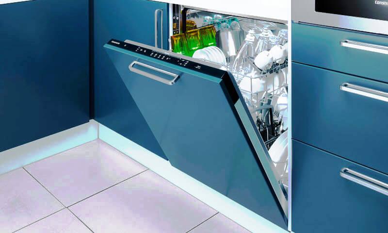 Фото встроенной посудомоечной машины с навесным мебельным фасадом