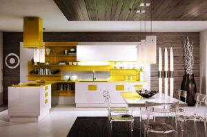 Фото кухонного гарнитура с полуостровом