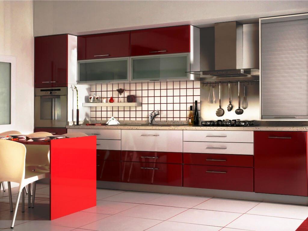 Фото кухонного гарнитура со столешницей из искусственного камня