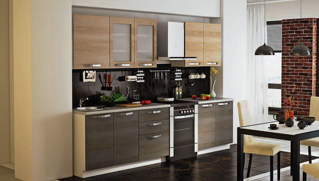 Кухонный гарнитур в комбинированном цвете