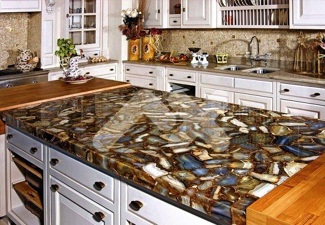 Фото кухонной столешницы из искусственного камня