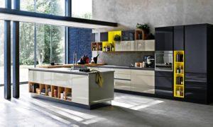 Фото кухонного гарнитура с островом