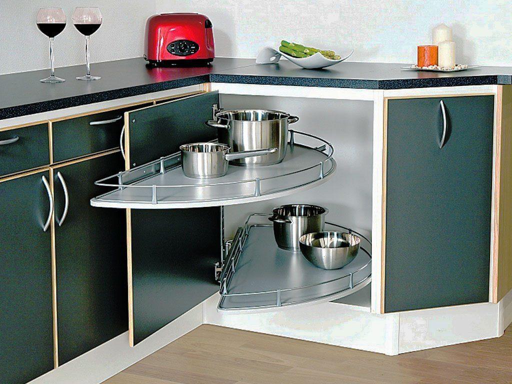 Фото углового кухонного шкафа нижнего ряда