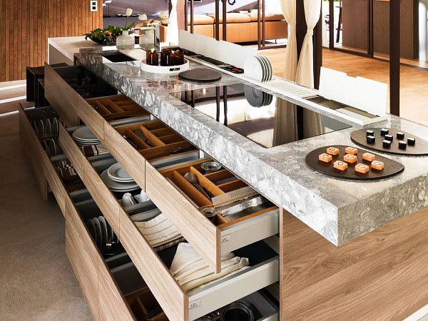Фото кухонной столешницы из натурального камня