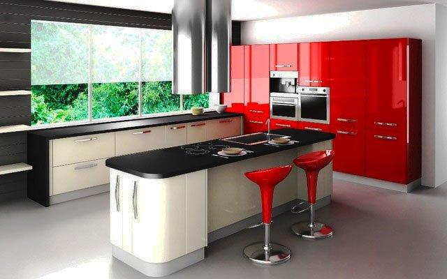 Фото кухонного гарнитура с пластиковыми фасадами