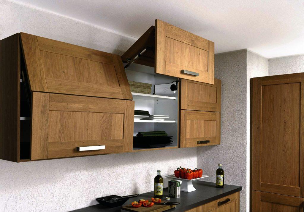 Верхние шкафы для кухни с подъёмным механизмом открытия