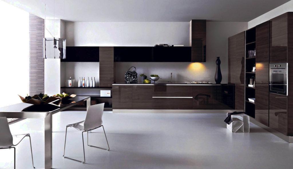 Фото кухонного гарнитура с закрытым цоколем