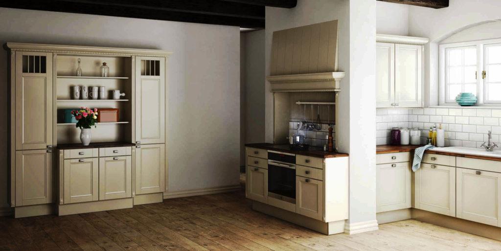 Фото напольных шкафов в интерьере классической кухни
