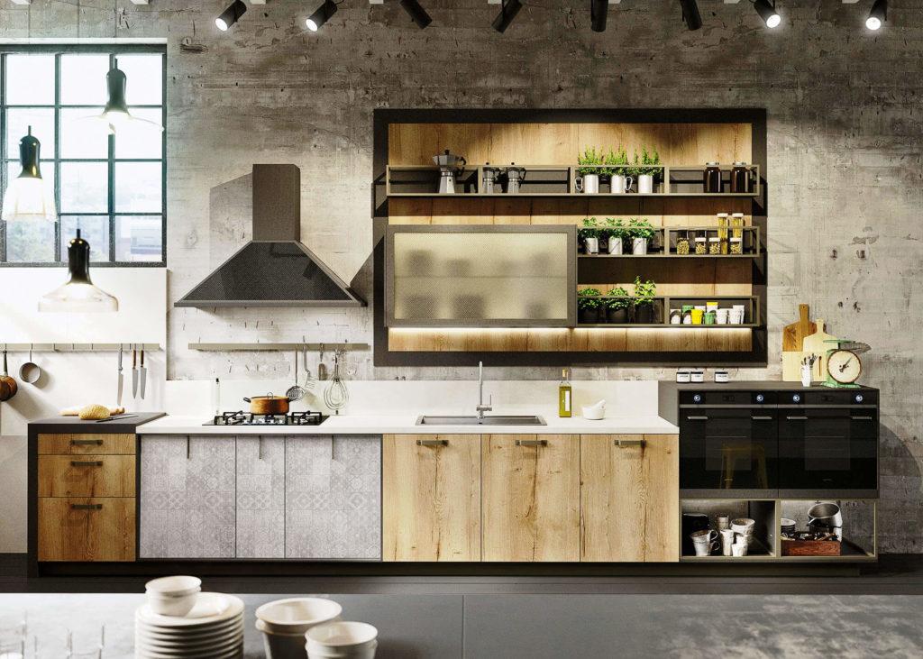 Фото стильной современной кухни в стиле Лофт