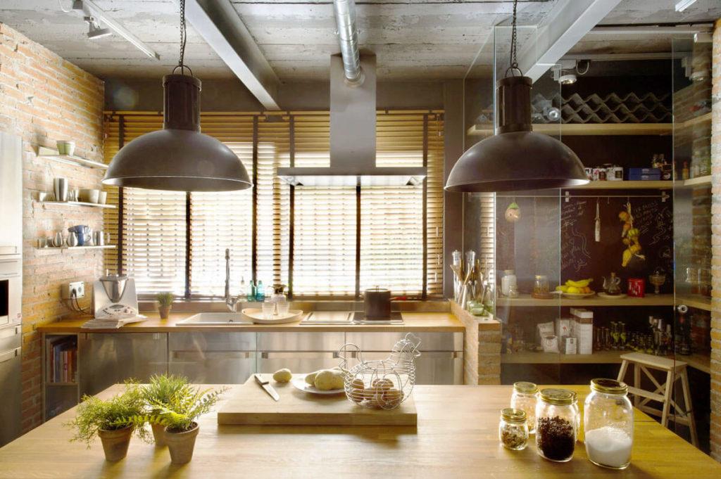 Интерьер кухни в Лофт стиле