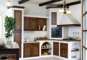 Фото встроенной кухни в деревенском стиле