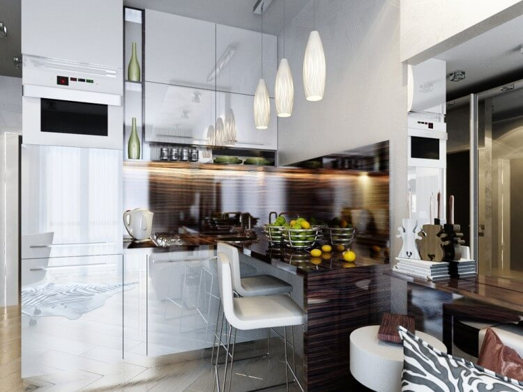 Кухня с духовым шкафом встроенным в пенал