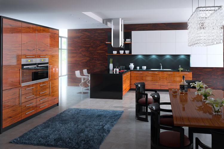 Фото современной кухни со встроенной техникой