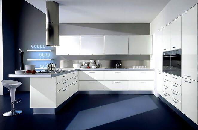 Фото кухни с двумя духовками встроенными в шкаф