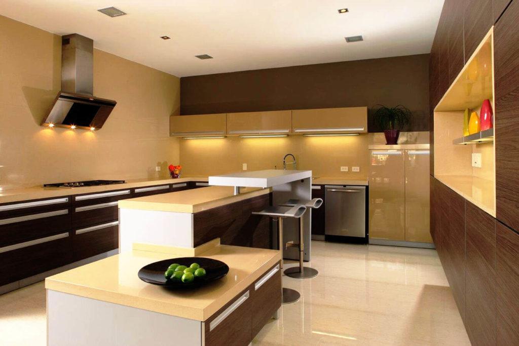 Фото кухонного острова совмещающего рабочую зону и барную стойку