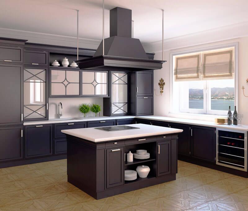 Фото кухонного острова с варочной панелью