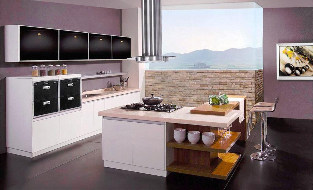 Угловой кухонный остров