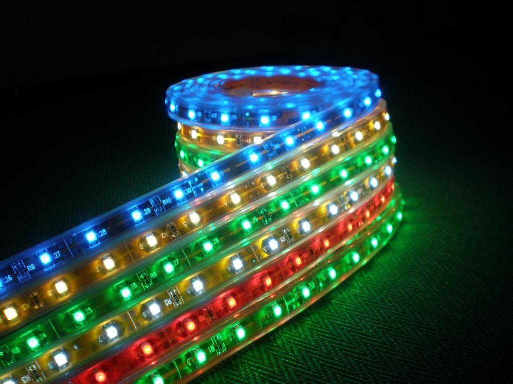Фото цветной светодиодной ленты для подсветки