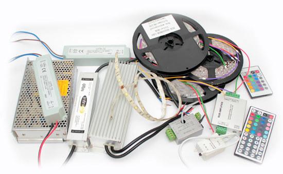 Фото комплекта для монтажа светодиодной ленты
