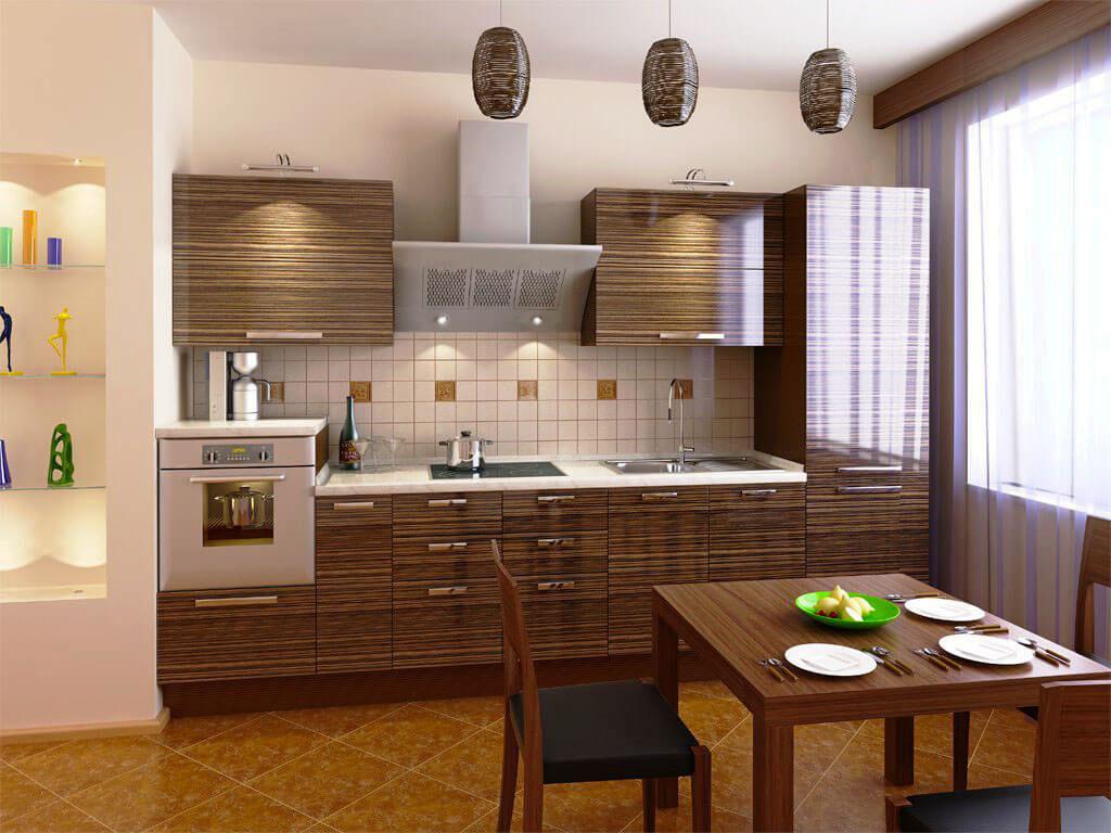 Фото кухонного гарнитура со встроенным духовым шкафом