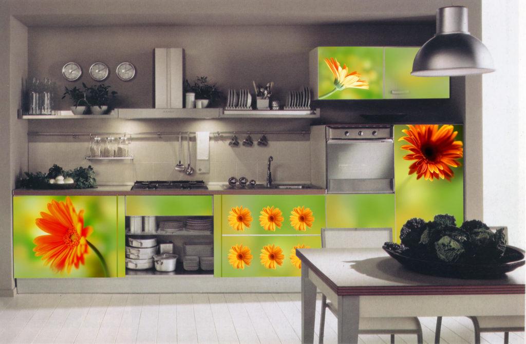 Акриловая кухня с рисунком