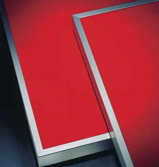 Фасад для шкафов в алюминиевой рамке