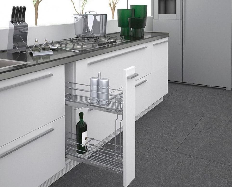 Карго - выдвижной ящик для хранения бутылок на кухне