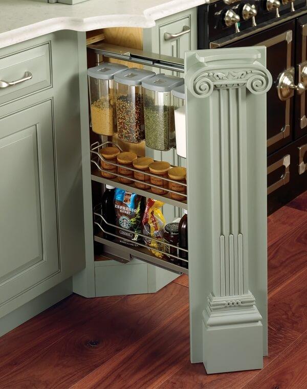 Кухонные шкафы колонны фото же, как