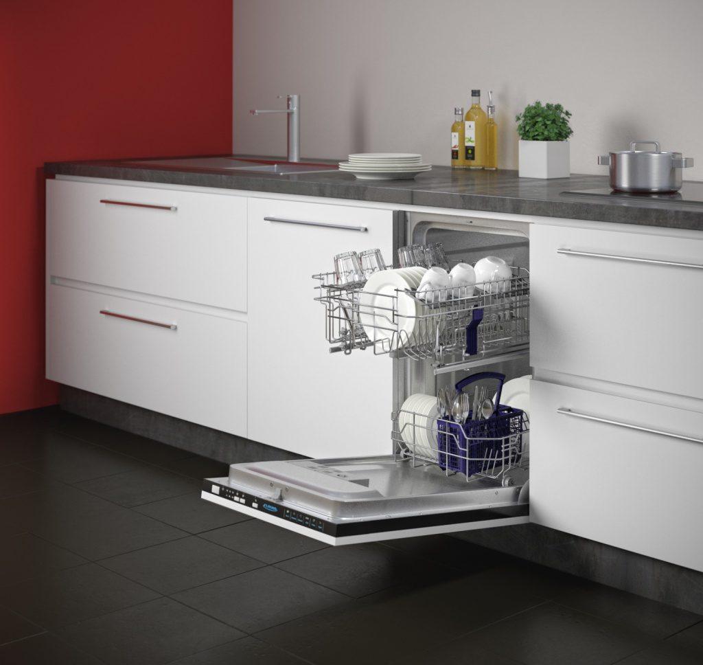 Кухонный гарнитур с встроенной посудомойкой