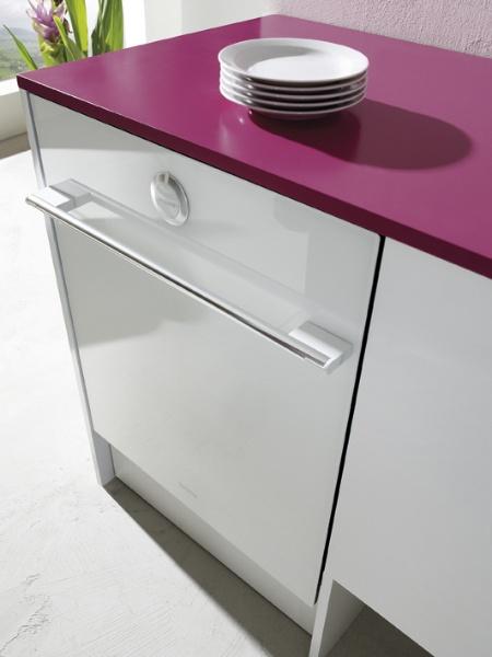Фото встроенной посудомоечной машины закрытой мебельным фасадом