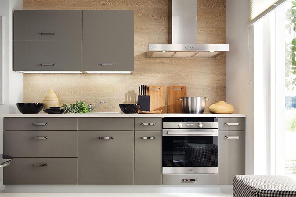 Маленький прямой кухонный гарнитур