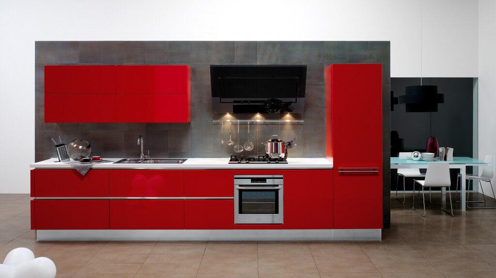 Современная эмалированная кухня