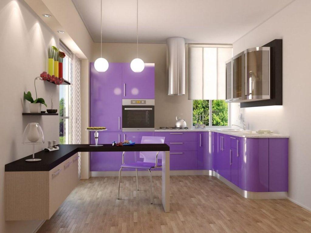 Фото кухни с пластиковым кухонным гарнитуром