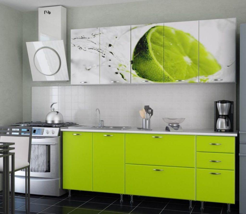 ПВХ кухня с рисунком