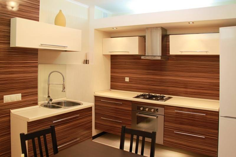 Кухонные ПВХ фасады имитирующие дерево